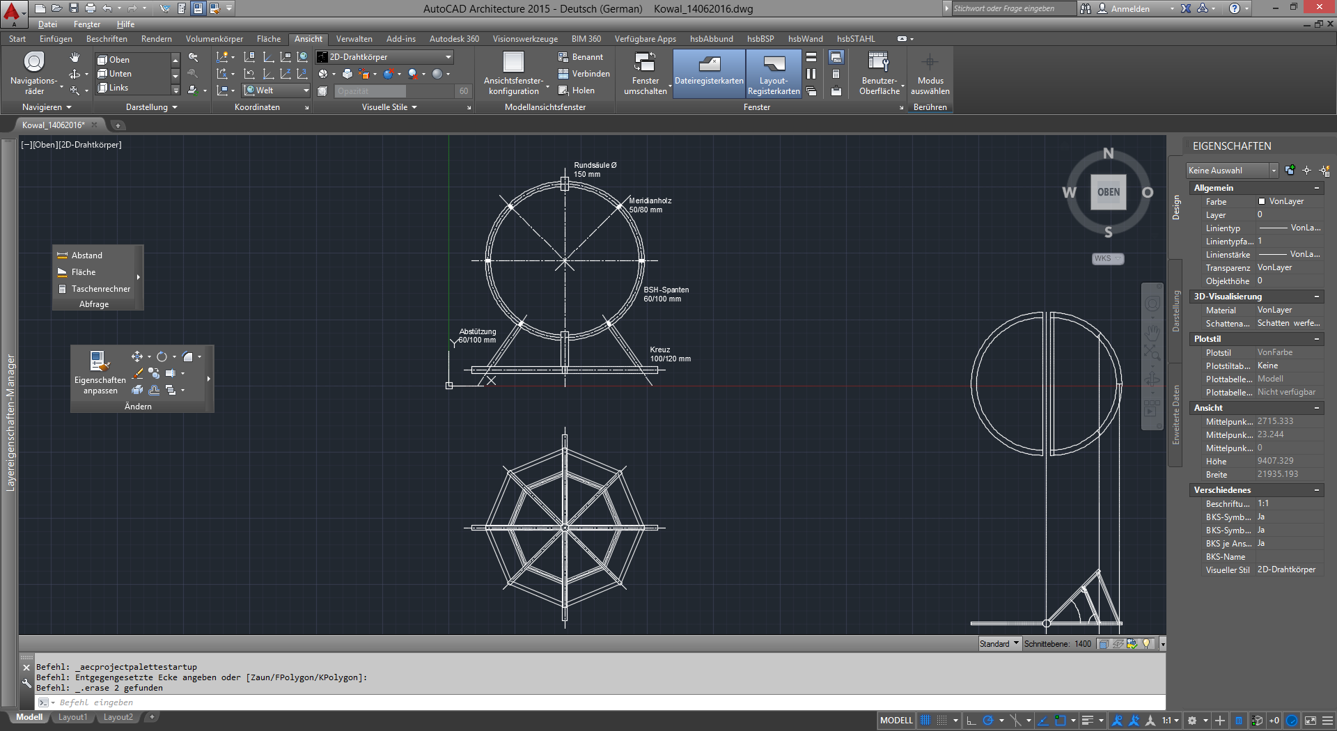 Die 3D-Konstruktion des Globes